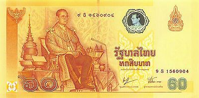 Thailand  **60 Baht**  9.6.2006  P 116 Series 9 S Com./Rep Uncirculated Banknote