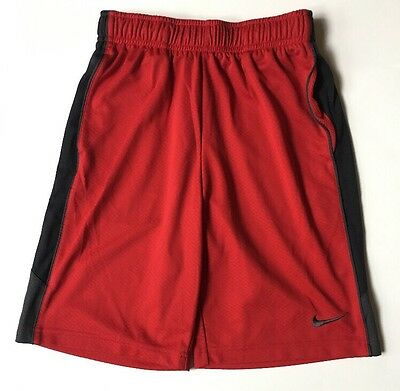 Nike Boys Dri-Fit Red Athletic Shorts Size M