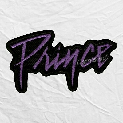 Prince Word Logo Embroidered Patch Rogers Nelson Purple Rain Pop Rock Love Sign