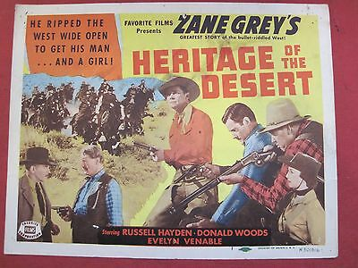 Lobby Card HERITAGE OF THE DESERT 1950 RUSSELL HAYDEN - DONALD WOODS