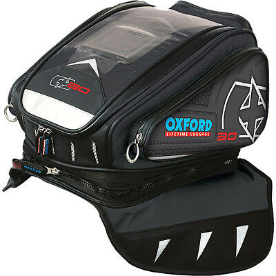 Oxford NEW X30 Magnetic Anthracite 30L Adventure Motorcycle Luggage Tank Bag