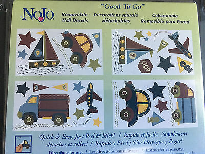 "NOJO REMOVABLE WALL DECALS ""GOOD TO GO Vehicles"" 20+"