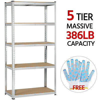 Heavy Duty Steel 5 Level Garage Shelf Metal Storage Adjustable Shelves Unit Rack