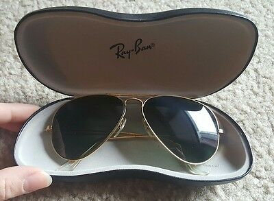 Vintage Ray Ban Aviator Sunglasses with case