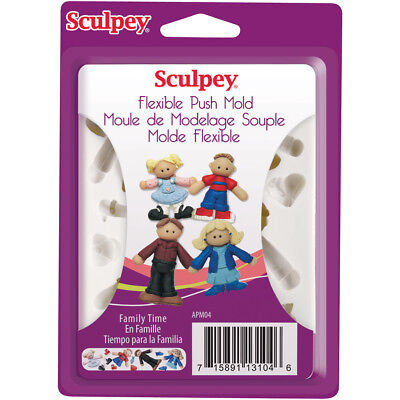 Sculpey Flexible Push Mold Family Time APM-04