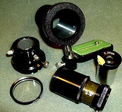 Telescope camera adapter, best in kind !  with 1 inch H 25 eyepiece. NEW !