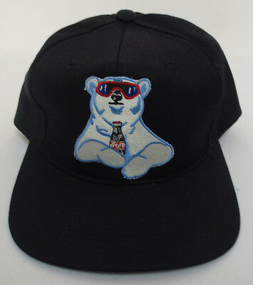 Coca Cola Hat Cap Vintage Retro Vtg Snapback Bear Stitch Rare Adjustable Cool