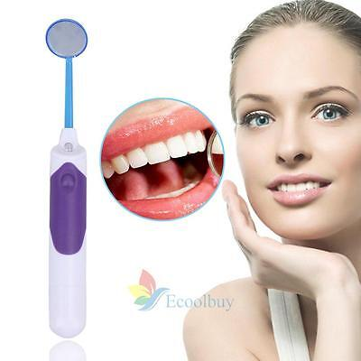 1PC Bright Durable Dental Mouth Mirror with LED Light Anti Fog Teeth Care