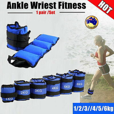Adjustable Ankle Wrist Fitness Weight Gym Straps Exercise Training 1 - 6kg