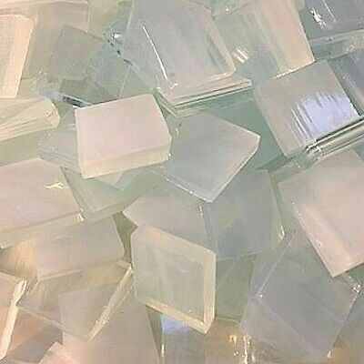 """100 PIECES Stained Glass Mosaic Tiles 1//2/"""" WHITE INDIGO PINK"""
