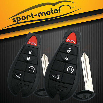 2x Uncut Chip Key Keyless Entry Remote Control Spare Key Fob M3N5WY783X