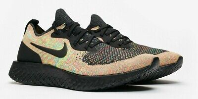 d7e719063868 NIKE EPIC REACT Flyknit AT6162-001 Multi Color Black Shoes Mens Running  Shoes DS -  182.30