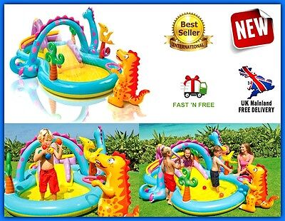 Kids Inflatable Garden Water Slide Park Sprayer Outdoor Summer Play Centre Pool