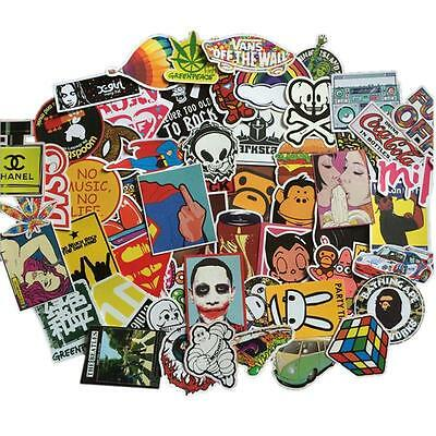 50pcs Skateboard Sticker Skate Graffiti Laptop Luggage Car Bomb Vinyl Decal LOT