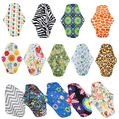 S/M/L/XL 56 Patterns Reusable Panty Liner Washable Menstrual Cloth Sanitary Pad