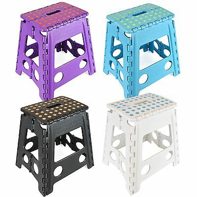 Large Multi Purpose Fold Step Stool Plastic Home Kitchen Easy Foldable Storage
