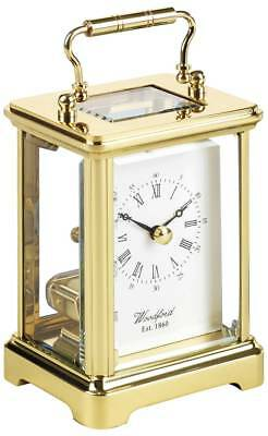 Woodford Obis Solid Brass Skeleton Quartz Carriage Clock - Gold