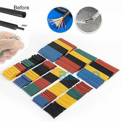 328Pcs 2:1 Car Assorted Electrical Cable Heat Shrink Tube Tubing Wrap Sleeve
