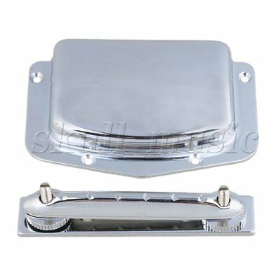 BQLZR Silver 6 String Tailpiece Bridge Archtop for Electric Guitar Part