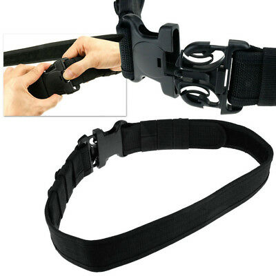 Adjustable Comfortable Black Tactical Security Police Duty Utility Belt