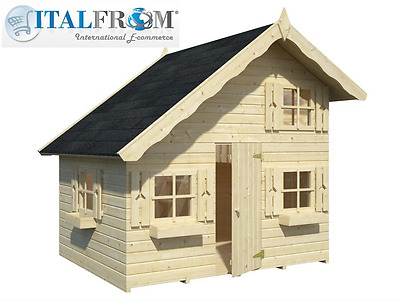 Wooden wendy house TOM kids outdoor cottage kids playhouse ItalfromB4