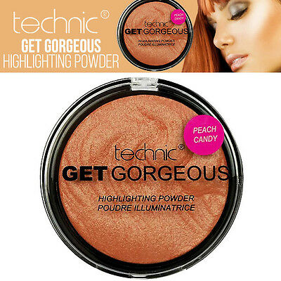 Technic - Get Gorgeous Highlighting Sculpt And Define Poudre - Peach Candy