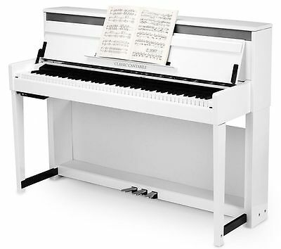 38290 Piano Vertical Digital Electronico Blanco Mate Classic Cantabile Up-1 Wm
