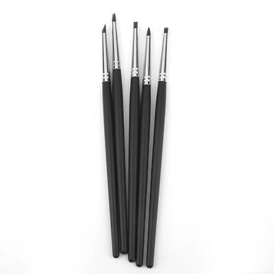 5pcs PRO Flexible Clay Sculpting Shapers Wipe Out Craft Tool Set Black