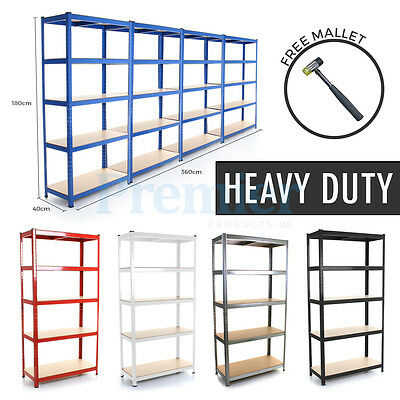 Metal Shelving 5 Tier Heavy Duty Industrial Garage Boltless Steel Racking Shelf
