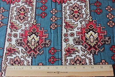 Antique Ethnic/Kilim/Persian Printed Cotton Fabric Textile Yardage 1890-1900