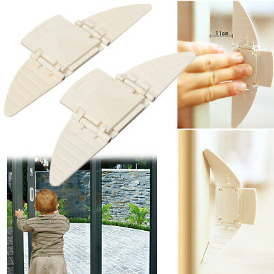 Sliding Closet Door Lock Window Stopper Wedge Locks Security for Baby Safty