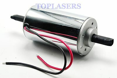 400W DC Motor Chrome CNC Air Cool Brush Spindle 12000RPM 12V-48V 52mm Gearmotor