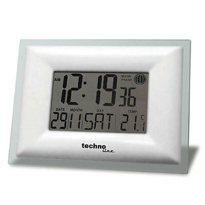 Radio-Controlled Wall Clock Radio Controlled Ws 8008 Date German Temperature