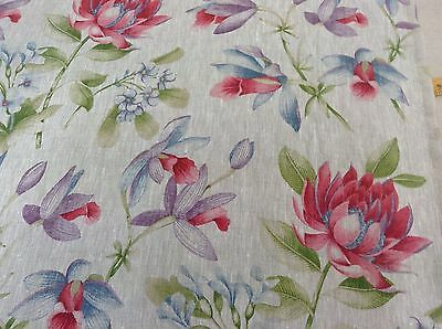 Elegance Lilys French  Designer Linen Curtain/upholstery/Craft Fabric