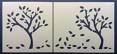 Tree Leaves Border Reusable Mylar Stencil Mask Template 360mm x 150mm