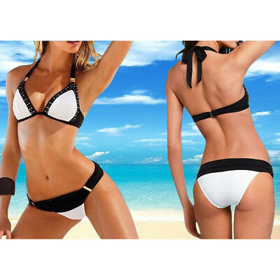 Swimwear Women Triangle Bikini Set Bandage Push-Up Swimsuit Bathing Beachwear