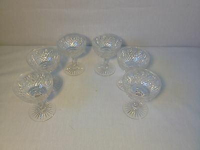 Beautiful Set Of 6 Antique ABP Brilliant Period Signed Libbey Cut Glasses