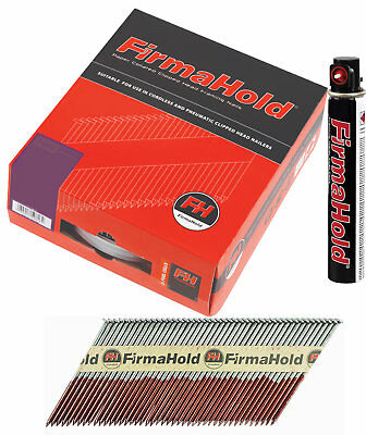 Firmahold CFGT63G RING GALV NAILS 2.8MM X 63MM PACK 3300 + 3 Cells