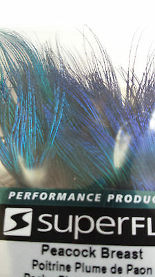 BLUE PEACOCK BREAST FEATHERS     Fly-Tying