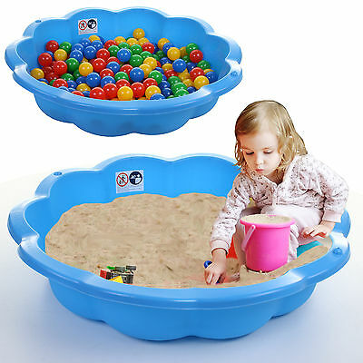 Kids Sand Pit Garden Ball Pit Solid Plastic Outdoor Blue Baby Pool Water Pit