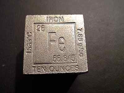 Iron (Fe) 10 Oz Cube-Square 10 Ounce  99.9% Pure Fine Iron- Very Unique