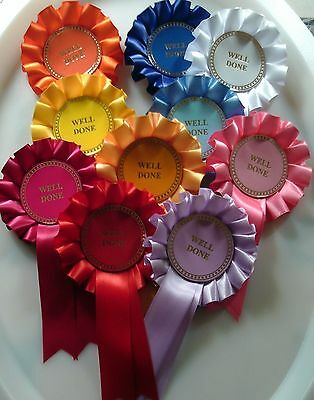 10 X 1 Tier Well Done Rosettes For Awards (Also available Winner or Clear Round)