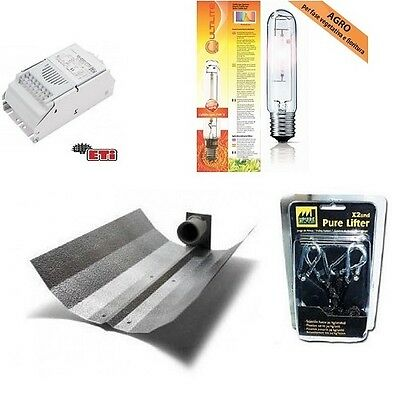 Kit Illuminazione Indoor 400W AGRO HPS Completo Coltivazione Indoor Growbox Box