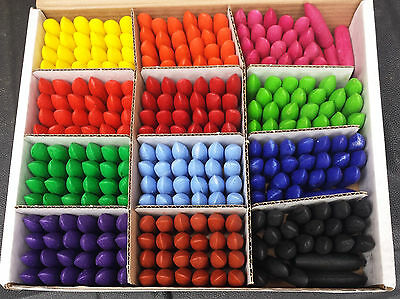 Scola Class Pack - Box of 288 Chubbi Stumps Crayons 24 Crayons in 12 Colours