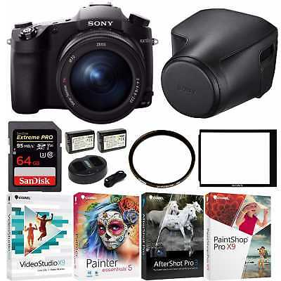 Sony DSC-RX10 III Cyber-shot Digital Still Camera, 64GB & Sony Leather Case Bun