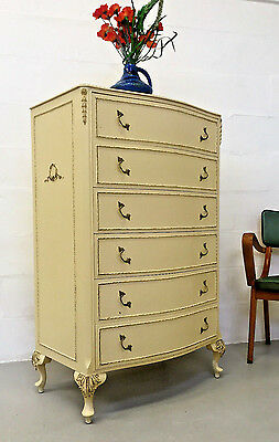 Quality Vintage Antique Louis French Style Shabby Chic Chest Of Drawers