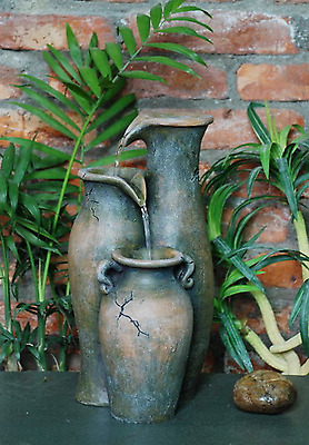 Garden Water Fountain Outdoor Indoor Vintage Pouring Jug Design Cascading Stream