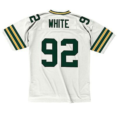 9f287f09887 Reggie White Green Bay Packers White 1996 Mitchell   Ness Throwback Jersey L