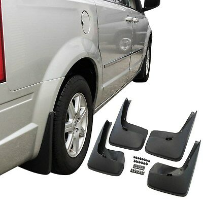 Town & Country Mud Flaps 2011-17 Splash Guard No Running Boards 4 Pc Front Rear