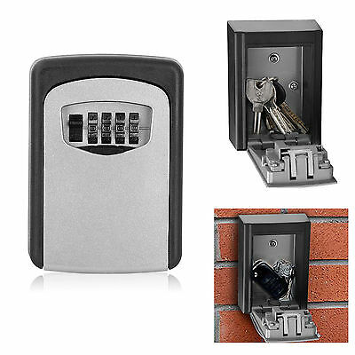 4 Digit Wall Mounted Security Key Box Code Secure Lock Storage Indoor Outdoor UK